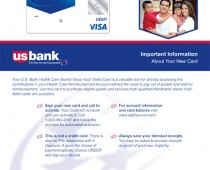 US Bank Card Carrier