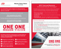 Mission, Vision and Values Card